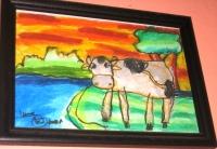 Menggambar sapi