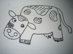 Sample of drawing - Cow
