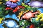 Ketika memandang lukisan ikan Coral Trout ini saya mulai berpikir, bahwa jangan-jangan ikan-ikan di dalam lukisan ini memang mencerminkan jenis ikan yang hidup di laut -laut sekeliling Maldives.
