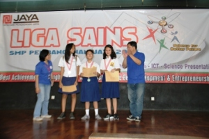 Liga Sains SMP Pembangunan Jaya 2013