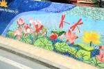 Ha Noi Ceramics Mural - Lotus & Capung
