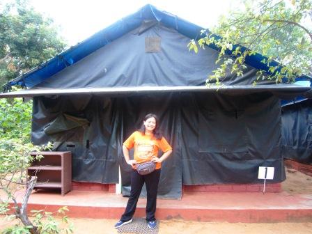Ini adalah tenda dimana saya tidur selama berada di sana.