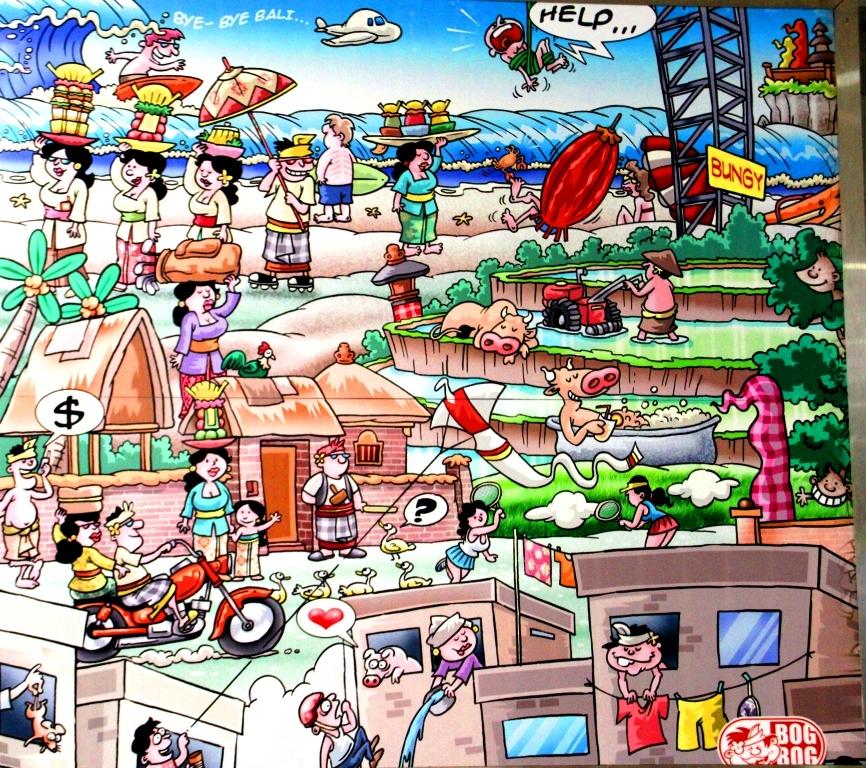 Bandara Ngurah Rai Denpasar: Mengenang Bali Lewat Cartoon. (1/6)