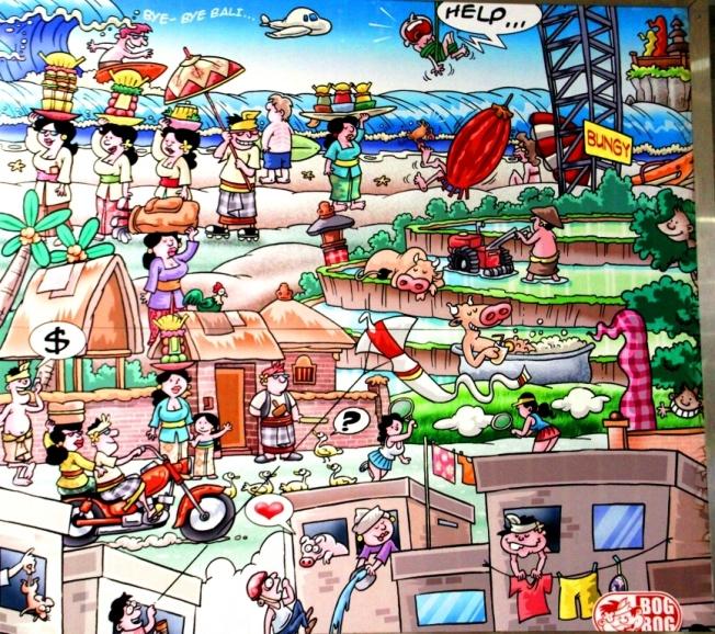 Bandara Ngurah Rai Denpasar: Mengenang Bali Lewat Cartoon