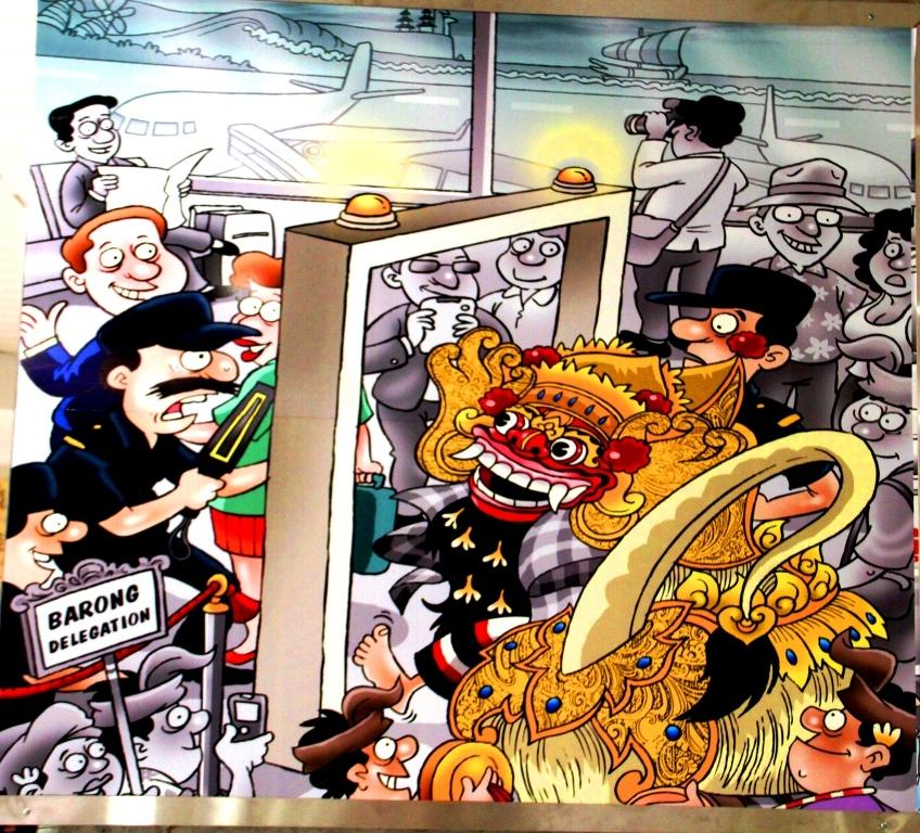 Bandara Ngurah Rai Denpasar: Mengenang Bali Lewat Cartoon. (2/6)