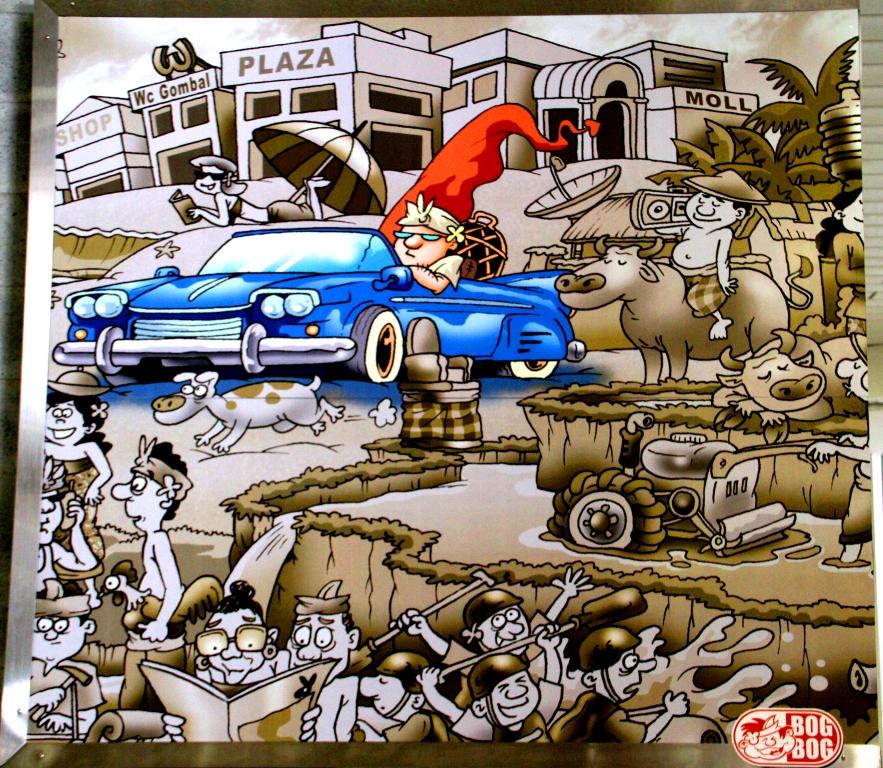 Bandara Ngurah Rai Denpasar: Mengenang Bali Lewat Cartoon. (5/6)