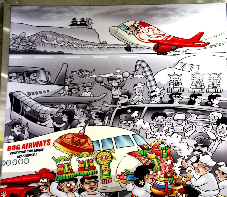Bandara Ngurah Rai Denpasar: Mengenang Bali Lewat Cartoon. (3/6)