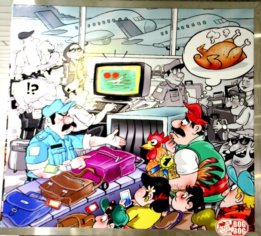 Bandara Ngurah Rai Denpasar: Mengenang Bali Lewat Cartoon. (4/6)