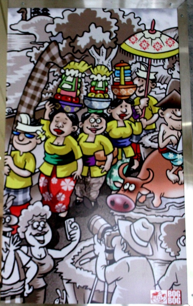 Bandara Ngurah Rai Denpasar: Mengenang Bali Lewat Cartoon. (6/6)
